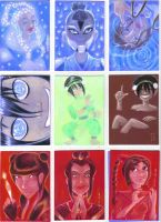 Element Nations Sketchcards by LEXLOTHOR
