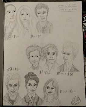 DW Drawing Challenge Day 3: OTPs by ravenclawqueen