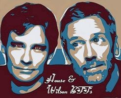 House + Wilson bff's by NeonGlo