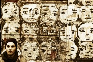 equally Different faces by Vaudano