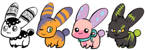cheep bunnys by lazy-adoptables