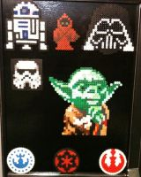 Perler Bead Creations Star Wars Yoda Empire Jawa by Rhys-Michael