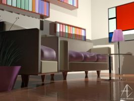 3D living room by AlaasDesigns