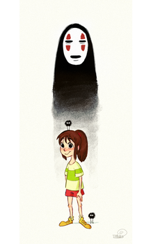 Chihiro And The Man With No Face by chillyfranco