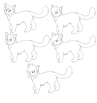 Free MS Paint Cat Lines~ by Zillastar-Adoptables