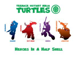TMNT Poster- Heroes In A Half Shell 3 by Geek-0