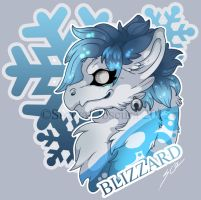 [Commission] Blizzard (Bust Badge) by StrayaObscura