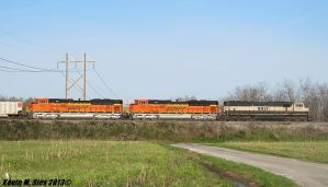 Brand Spanking New BNSF SD70ACes 9112 and 9114 by EternalFlame1891