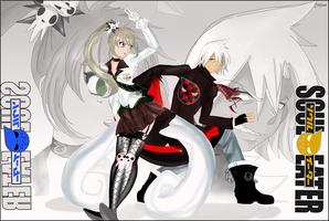 Older Soul and Maka by Martyna-Chan