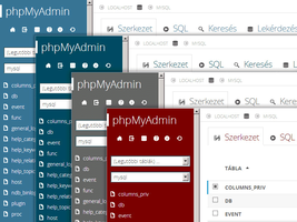 Windows 8 Metro Theme for phpMyAdmin by hplhu