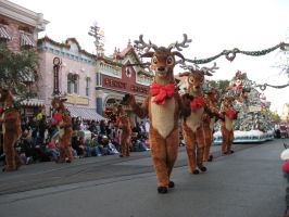 Dancing Eight Tiny Reindeer by disneyland-stock