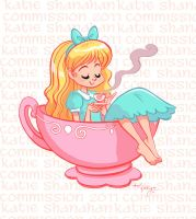Alice in a tea cup by ktshy