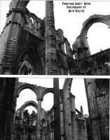 Fountains Abbey Arches by EscaBowmer