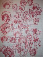 .:First Doodle page for the School year XD:. by hakura-lives