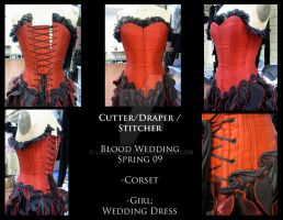 Blood Wedding Corset by LadyDomira
