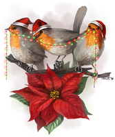 [muted christmas carols playing in the background] by Ceavit