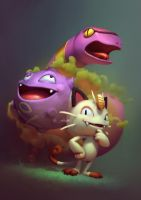 Basic Pokemons: Team Rocket by yoshiyaki