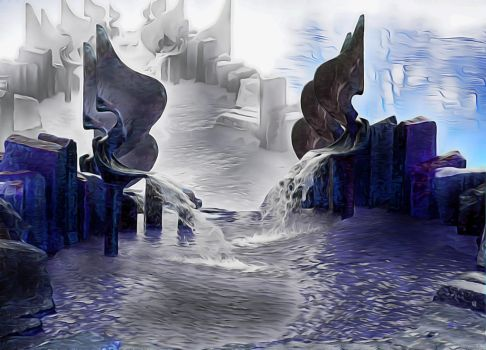 Fantasy Fountains (Contest Entry) by stardrifting