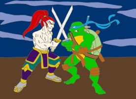 Ultimate Ninja VS Leonardo by sammychan816