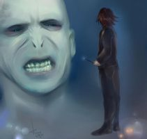 Voldemort and Snape by AkariMarco