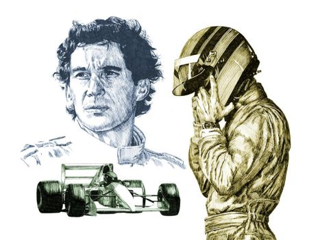 Ayrton Senna by maddrawings
