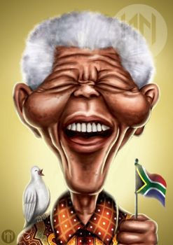 Peace, Laughter, Freedom - Nelson Mandela by NazariaNz