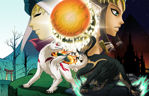 Okami - Zelda Crossover Final by Ashikai