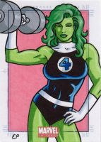 She-Hulk MU by ElainePerna