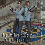 """Leon Police Officer """"Off Duty"""" by DamianHandy"""