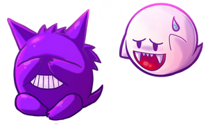 boo and gengar by michellescribbles