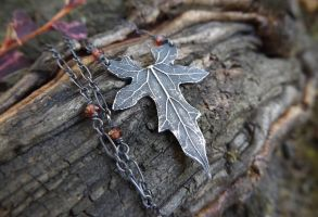 Elven Autumn Necklace by QuintessentialArts