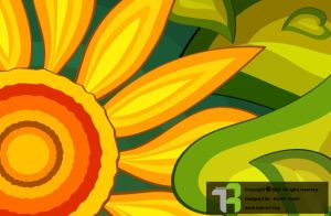 Abstract SunFlower by Arousha