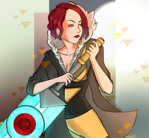 Transistor (Red) by Maegen-the-Moose