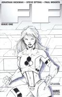 FF Invisible Woman sketchcover by adelsocorona