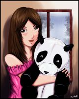 with panda by ren12