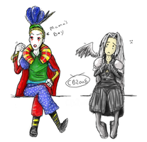 Kefka VS Sephiroth by Spinkels