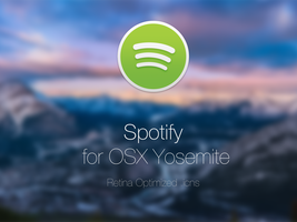 Spotify for OSX Yosemite - Retina by figman