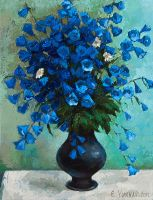 Blue Flowers by Yukhno