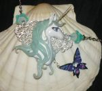 The Last Unicorn - handmade Necklace 2nd Photo by Ganjamira