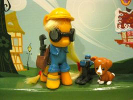 Applejack Engie Custom by SteveHoltisCool
