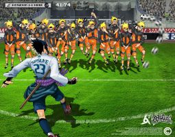 Sasuke vs Naruto: FreeKick by ajiraiya