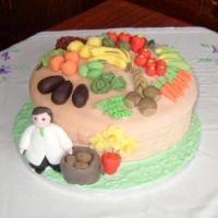 Green Grocer's Birthday Cake by Wabbit-t3h