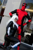 Black Cat and Deadpool by AlyChuCosplay