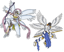 Angemon and Angewomon by SuirenShinju