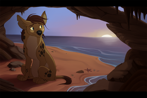 Ocean Hyena - Art Trade by kohu-arts