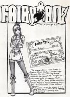 Fairy Tail OC: Robyn Guild card. by Boxing-Fox
