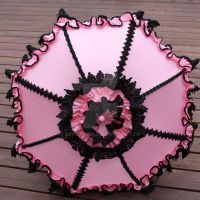 Pink and Black Parasol by dbvictoria