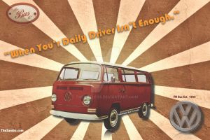 Volkswagen Bus Wallpaper by TheGUTLESS