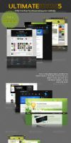 Web Mockup Pack- 5 by MockupMania