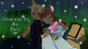 Cloud x Aoi a Date by KingdomHeartsNickey